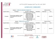offres formations du 7 au 10 avrill 2015
