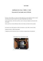 modification d truma 6002 en electrique 220 volts