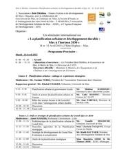 programme du seminaire final