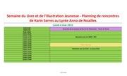 Fichier PDF planning rencontres karin serres familles