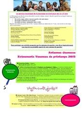 plannings antennes vacances printemps 2015 1