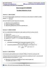 serie corrigee n 4 variables aleatoires et lois