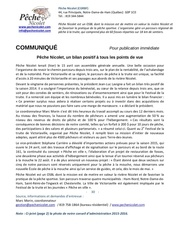 communiquE peche nicolet 15 avril 2015