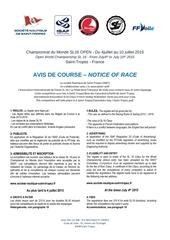 avis de course mondial sl16 v3