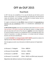 off de ouf road book 2015