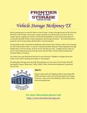 vehicle storage mckinney tx