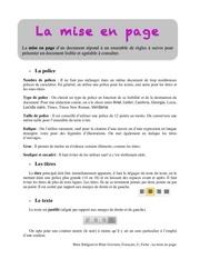 Fichier PDF la mise en page