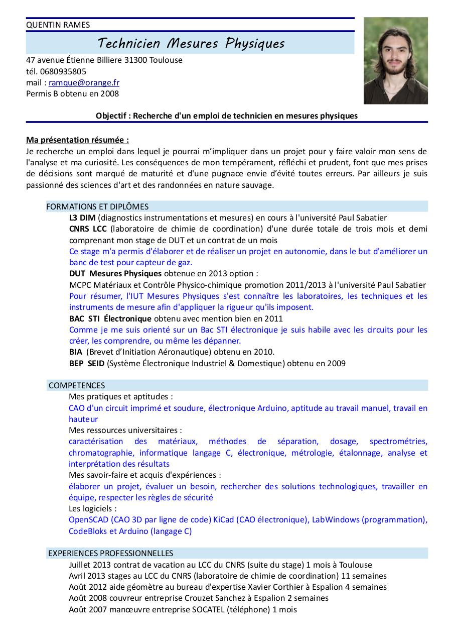 cv quentin rames mesures physiques pdf par quentin rames