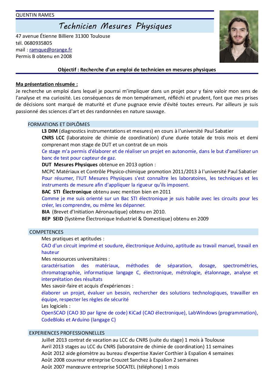 cv quentin rames mesures physiques pdf par quentin rames