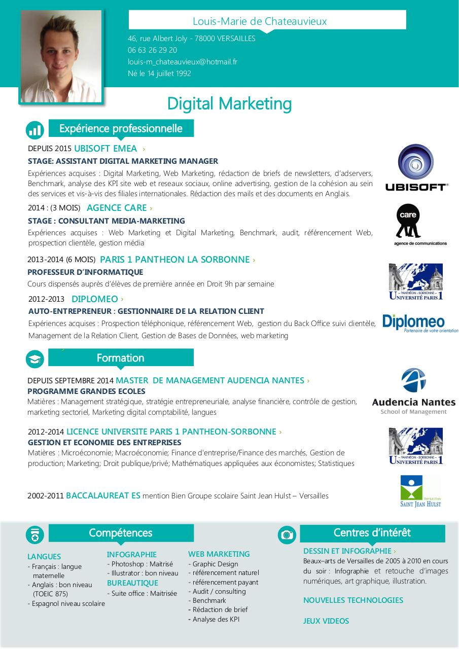 cv alternance digital marketing 2015 2  cv alternance
