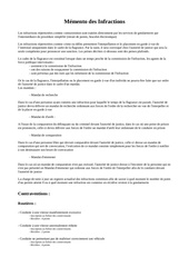 Fichier PDF differentes infractions et peines