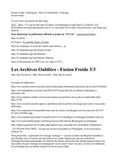 Fichier PDF fusion froide