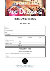 fiche d inscription vide dressing 2015 1003 events