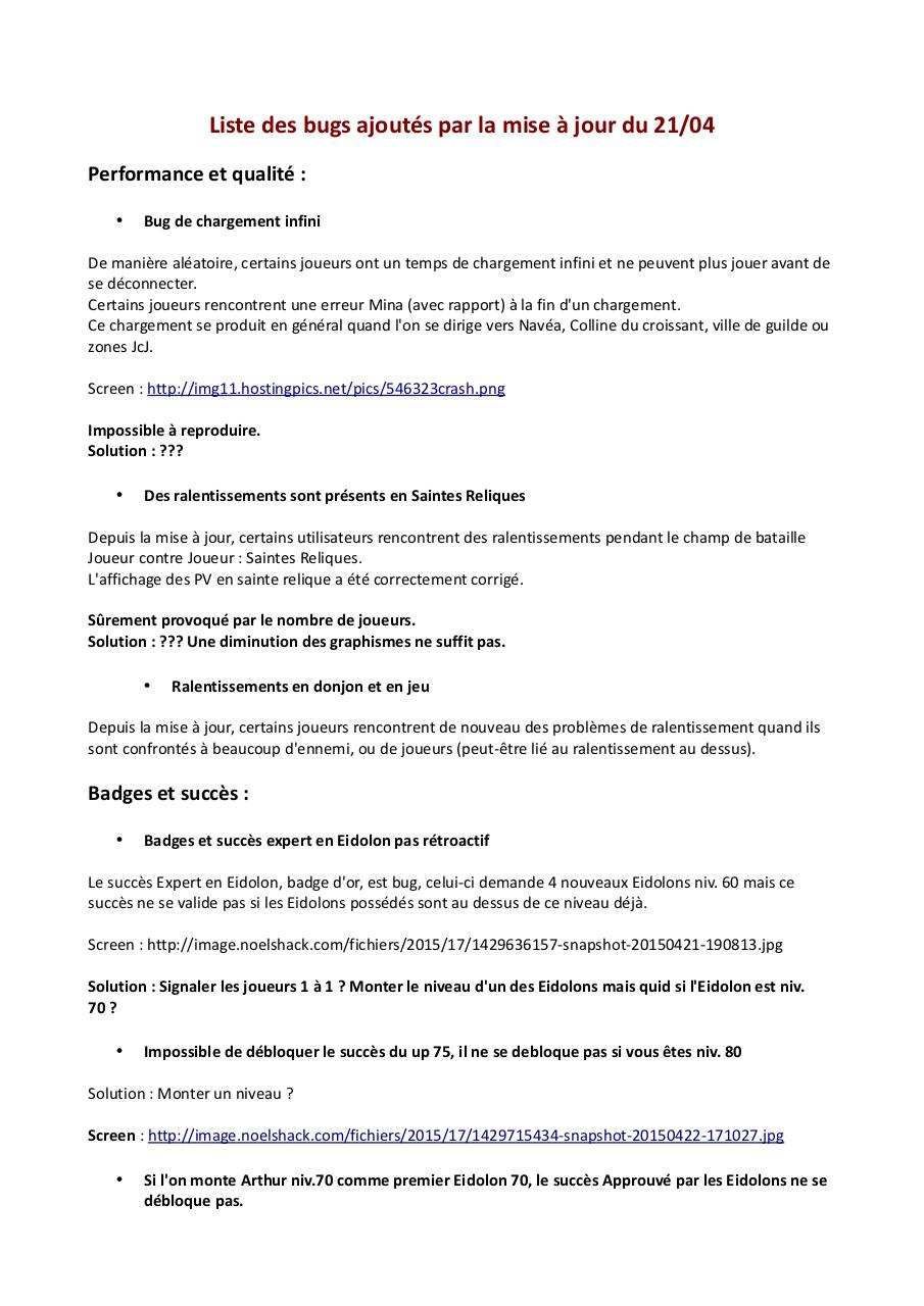 Aperçu du document Bug_Miseajour22042015.pdf - page 1/3