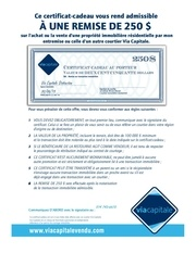 Fichier PDF certificat cadeau