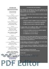 Fichier PDF cours de degustation