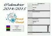 calendrier 2014 2015 zone nord modif avril