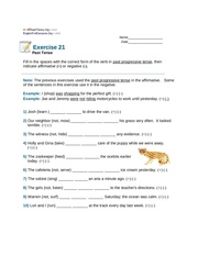 Fichier PDF past tense exercise 21
