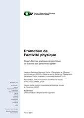 bpgfa promotion activit physique etude 2011