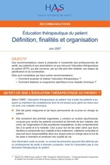 etp definition finalites recommandations juin 2007
