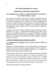 rapport academie medecine 2012
