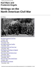writings on the north american civil war