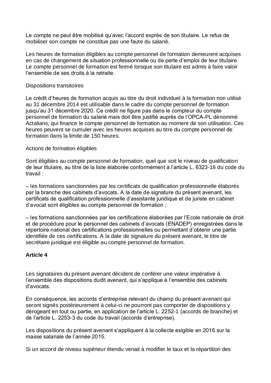 Avenant 113 CCN personnel cabinets d'avocats.pdf - page 3/4