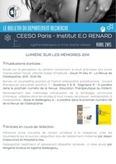 bulletin departement recherche ceeso paris avril 2015