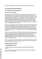 devoir de synthese n 1 francais 3eme math sc exp tech si 2009 2010 mme saida azzouz