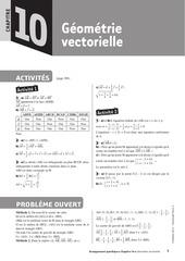 geometrie vectorielle