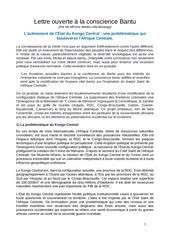 lettre ouverte a la conscience kongo