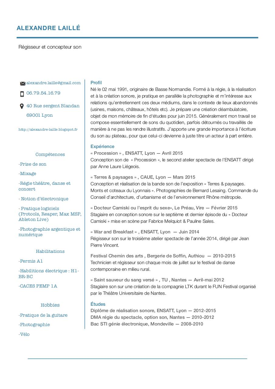 cv 2015 - cv alexandre laill u00e9 pdf