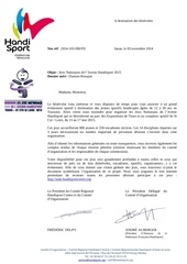 handisport courrier benevole
