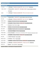 programme horaire