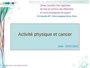 activitephysiqueetcancer