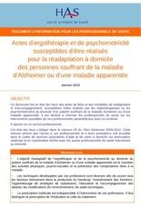 alzheimer et actes professionnel