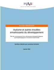 autisme et autres troubles has 2010