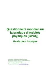 gpaq analysis guide fr