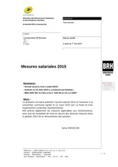 mesures salariales 2015