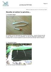 spiruline recolter et secher