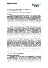 1159881056 geologie succincte du massif armoricain bretagne