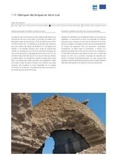 briques de terre fabrication