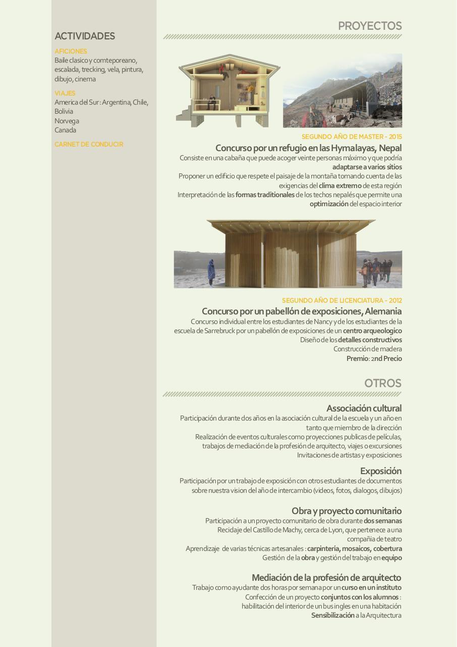 Curriculum Vitae Marie Tasse Fichier Pdf