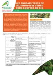 les engrais verts de legumineuses semes sous couvert en bio