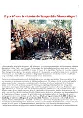40 ans victoire du kampuchea democratique