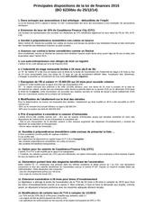 principales dispositions loi de finances 2015