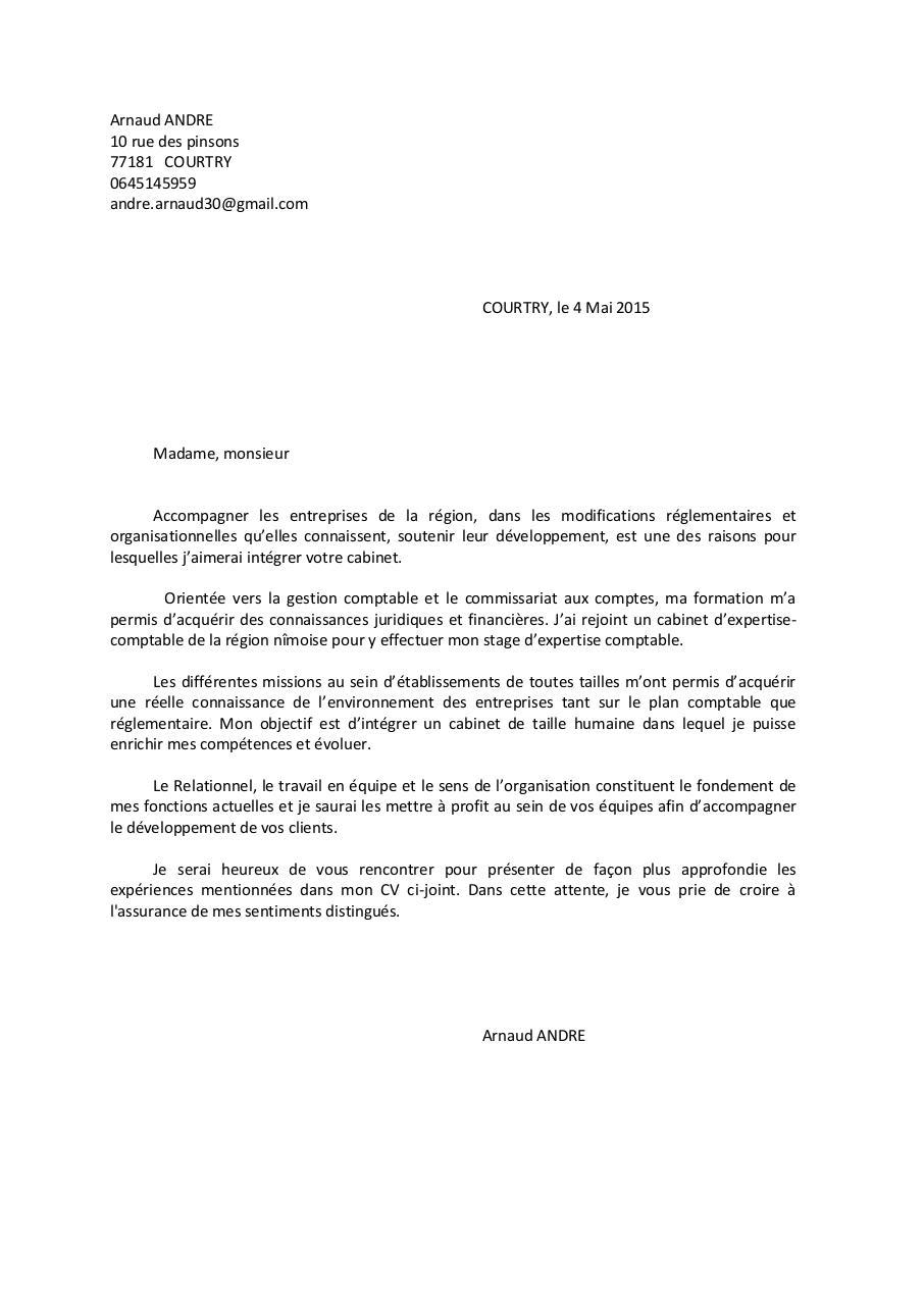arnaud andre lettre de motivation par arnaud andr u00e9