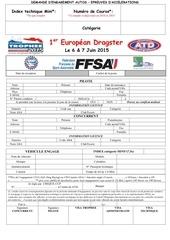 engagement 1er european dragster