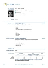 Fichier PDF european cv internship