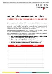 petition unitaire retraites